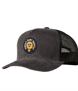 Vissla Solid Sets Cord Eco Trucker Hat, Black