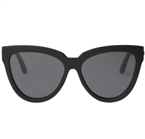 LE SPECS LIAR LAIR SUNGLASSES, BLACK RUBBER