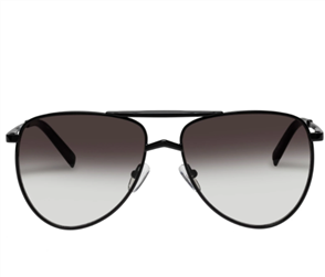 LE SPECS HIGH FANGLE SUNGLASSES, BLACK