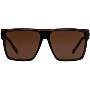 LE SPECS DIRTY MAGIC SUNGLASSES, MAT BLACK/ TORT