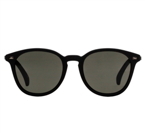 LE SPECS BANDWAGON SUNGLASSES, BLACK RUBBER