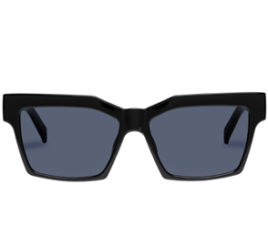 LE SPECS AZZURRA SUNGLASSES, BLACK/ GOLD