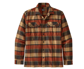 Patagonia L/S Fjord Flannel Shirt, Red
