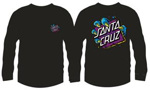 Santa Cruz YOUTH BEAST DOT L/S TEE, BLACK