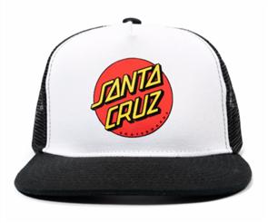 Santa Cruz CLASSIC DOT YOUTH TRUCKER, WHITE