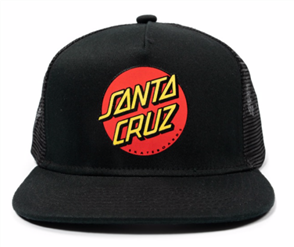 Santa Cruz CLASSIC DOT YOUTH TRUCKER, BLACK