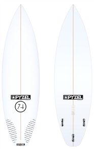 Pyzel 74 Board with Thruster FCS II Fins