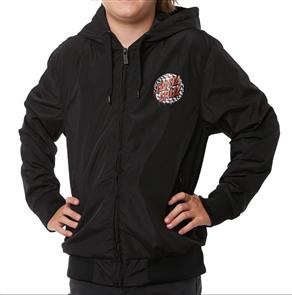 Santa Cruz Check Waste Dot Windbreaker Youth Jacket