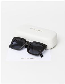Stella + Gemma Audrey Polarised Sunglasses, Black