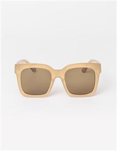 Stella + Gemma Gwyneth Polarised Sunglasses, Cream