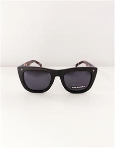 Stella + Gemma Havana Polarised Sunglasses, Black w/Tort Arms