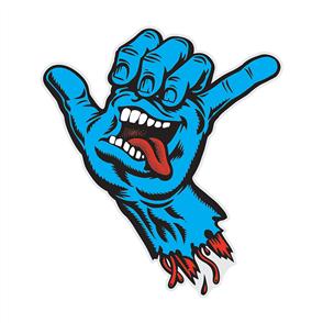 Santa Cruz Shaka Hand Sticker 6inch