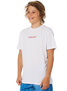 Santa Cruz Shaka Surf Hand Youth Tee, White