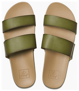 Reef Cushion Bounce Vista Womens Jandals, Olive