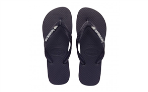 Havaianas Top Silver Fern 0090 (New ) Jandals, Black