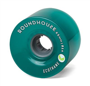 Carver Roundhouse Wheels MAG2 65mm 81A ECO (Set of 4), Aqua