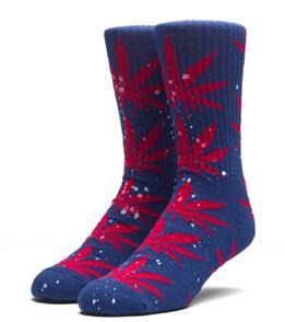 HUF Splatter Plantlife Socks, Navy