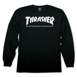 Thrasher Skate Mag Long Sleeve Tee, Black