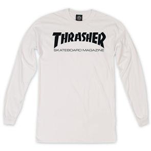 Thrasher Skate Mag Long Sleeve Tee, White
