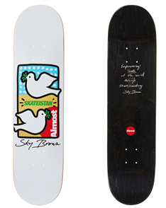 Almost Skateistan Double Doves R7 Sky Brown Deck, White, 7,75""