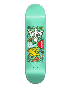 Almost Sky Brown Skateistan Doodle R7 Deck, Mint