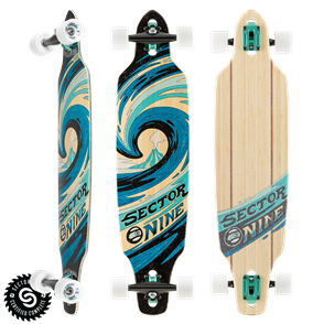 "Sector 9 Longboards Slab Mini Lookout (37.5"" x 9.25"" WB - 28.0"")"