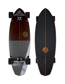 "SLIDE Diamond Koa 32"" Surf Skateboard"