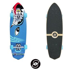 "SmoothStar Barracuda 30"" Surf Skateboard, Blue"