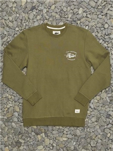 Just Another Fisherman SNAPPER LOGO CREW , OLIVE