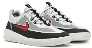 Nike SB NYJAH FREE 2.0 SHOE, Blk/Sport Red - Met Silver/Blk