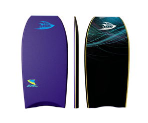 Manta Sonic Bodyboard, 2017-18, Purple/Blue, Size 40""