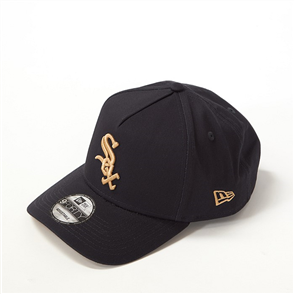 New Era 940AF CHICAGO WHITE SOX Q121 CAP, BLK GLD