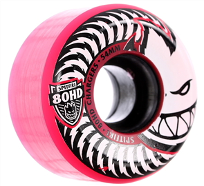Spitfire 80Hd Wheels Charger Conical Pink 56mm