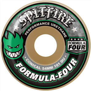 Spitfire Wheels Formula Four 101 Conical, Green Print