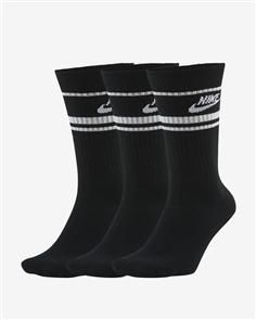 Nike SB MENS SPORTSWEAR ESSENTIAL SOCK, 3 PACK, BLACK/WHITE