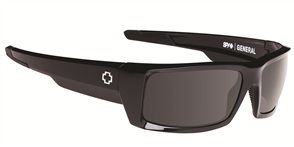 SPY General Sunglass, Frame: BlackLens: Happy Grey Green