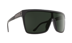 SPY Flynn Sunglass Frame: Black Matte Black, Lens: Happy Grey Green