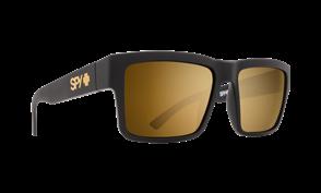 SPY Sunglass Montana Soft Matte Black - Happy Bronze w/Gold Mirror