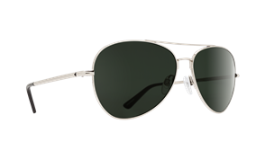 SPY Whistler Sunglass, Frame: Silver, Lens: Happy Grey Green