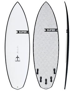 Super Brand The Vapors SuperFlex Shortboard, Clear