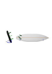 Unbranded Surfboard Wall Rack - Single Basic