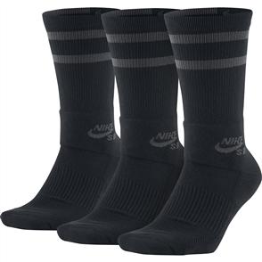 Nike SB Crew Skateboarding Socks(3PK) Black Anthracite