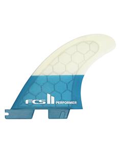 FCS II Performer PC Teal Medium Quad Rear Retail Fins