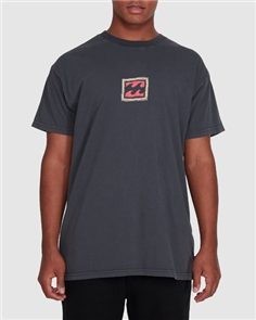 Billabong CHECKERS SS TEE, ASPHALT