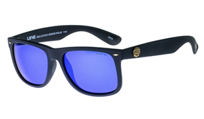 Liive The Captain - Mirror Polarized Sunglasses, Matt Black