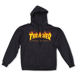 Thrasher Flame Logo Hood Hood, Black