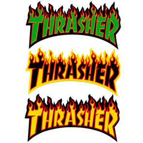 Thrasher Flame Logo Medium Sticker