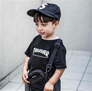 Thrasher Skate Mag Kids Tee, Black