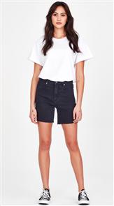 Junkfood Jeans Tina Denim Short, Black