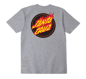 Santa Cruz Flame Dot Tee, Grey Heather